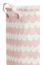 Large storage basket - Light pink/Patterned - Home All | H&M CA 2