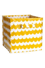 Storage box - Mustard yellow/Patterned - Home All | H&M CN 1