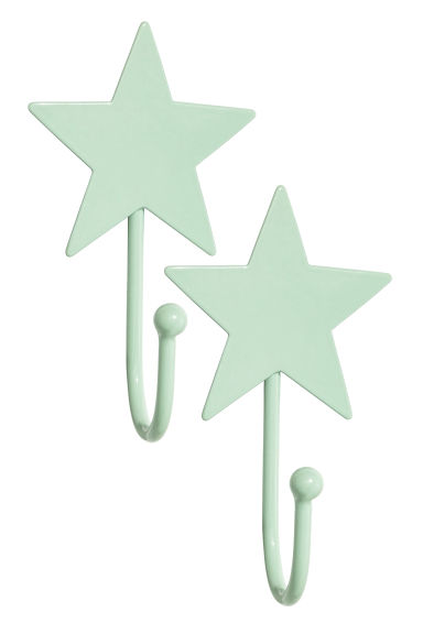 2-pack hooks - Mint green - Home All | H&M CN 1