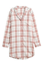 Flannel night shirt - Powder pink/White checked - Ladies | H&M 2