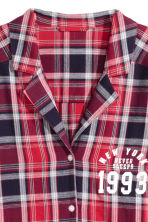 Flannel night shirt - Red checked/New York - Ladies | H&M 2