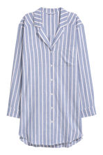 Flannel night shirt - Blue/Pink striped - Ladies | H&M CN 2