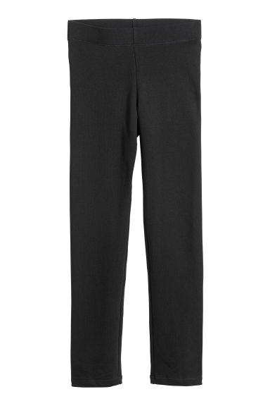 Sturdy jersey leggings - Black -  | H&M