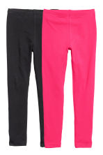 2-pack leggings - Cerise - Kids | H&M FI 2