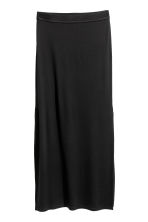 Jersey maxi skirt - Black -  | H&M 2