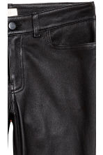 Leather trousers - Black - Ladies | H&M 4