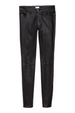 Leather trousers - Black - Ladies | H&M 3