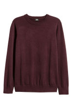 Fine-knit cotton jumper - Dark red - Men | H&M CA 2