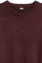 Fine-knit cotton jumper - Dark red - Men | H&M CA 3