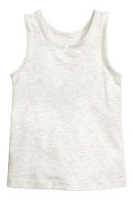 2-pack vest tops - Light grey marl/White spotted - Kids | H&M 2
