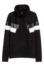 Funnel-collar sweatshirt - Black - Men | H&M CN 2
