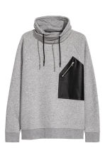 Funnel-collar sweatshirt - Grey marl - Men | H&M 2