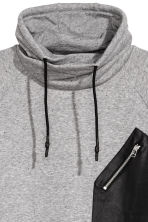 Funnel-collar sweatshirt - Grey marl - Men | H&M 3