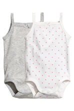 Bodies, lot de 2 - Blanc/cœurs - ENFANT | H&M FR 1