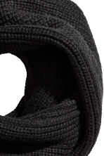 Ribgebreide snood - Zwart - HEREN | H&M BE 2