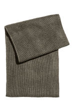 Rib-knit tube scarf - Khaki green - Men | H&M CN 2