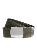Webbing belt - Khaki green - Men | H&M 1