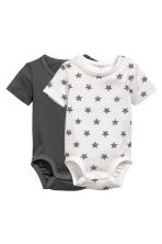 2-pack bodysuits - Dark grey - Kids | H&M 1