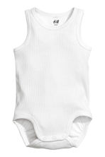 2-pack sleeveless bodysuits - Dark grey/Stars -  | H&M 2