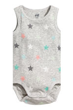 2-pack sleeveless bodysuits - Grey/Stars -  | H&M CN 3