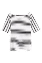 H&M+ Boat-neck top - White/Striped - Ladies | H&M CN 2