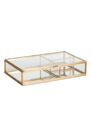 Clear glass jewellery box - Gold - Home All | H&M CN