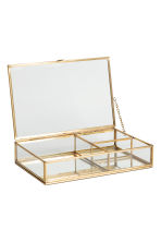 Clear glass jewellery box - Gold - Home All | H&M CN 2