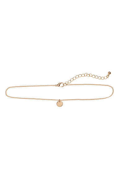 Choker with a pendant - Gold-coloured - Ladies | H&M 1
