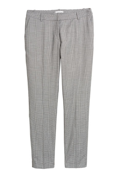 Suit trousers - Light grey/Dogtooth - Ladies | H&M CN
