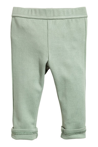 平紋長褲 - Light green -  | H&M 1