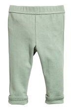 Jersey trousers - Light green -  | H&M CN 1