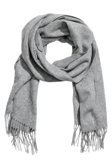 Wool scarf - Grey marl - Men | H&M CN 1
