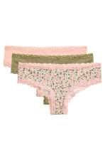 3-pack briefs - Light Turquoise/Floral - Ladies | H&M CN 2