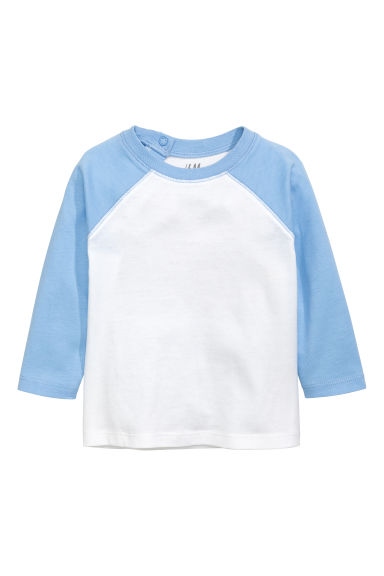 Long-sleeved T-shirt - Light blue - Kids | H&M CN 1