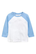 Long-sleeved T-shirt - Light blue - Kids | H&M CA 1