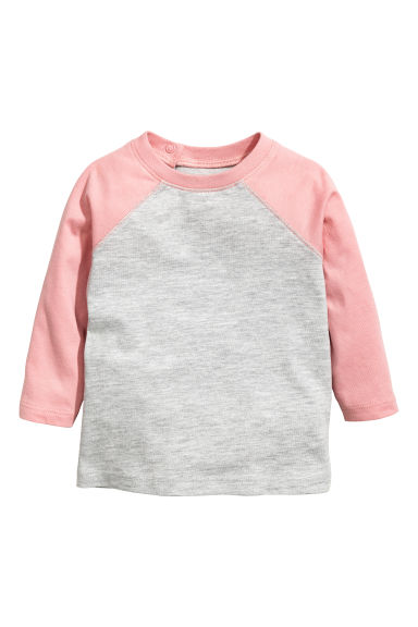 Long-sleeved T-shirt - Grey/Pink - Kids | H&M 1