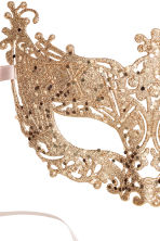 Glittery fancy dress mask - Gold-coloured - Ladies | H&M CN 2