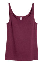 Jersey vest top - Plum - Ladies | H&M CN 2