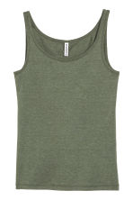 Jersey vest top - Green marl - Ladies | H&M 1