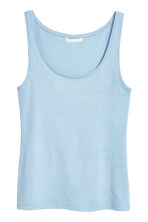 Jersey vest top - Light blue - Ladies | H&M CN 2