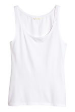 Jersey vest top - White - Ladies | H&M 2