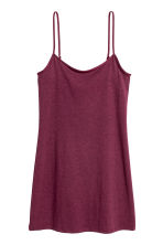 Long jersey strappy top - Dark pink - Ladies | H&M 2