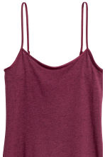 Long jersey strappy top - Dark pink - Ladies | H&M 4