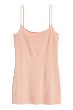 Long jersey strappy top - Powder beige - Ladies | H&M 2