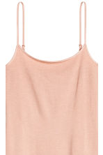 Long jersey strappy top - Powder beige - Ladies | H&M 3