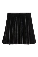 Circular skirt - Black/Velour - Ladies | H&M CN 2