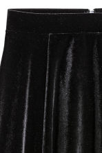 Circular skirt - Black/Velour - Ladies | H&M CN 3