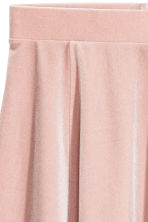 Circular skirt - Powder pink/Velour - Ladies | H&M 3