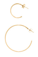 3 pairs hoop earrings - Gold -  | H&M 2