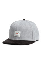 Cap with appliqué - Light grey marl - Men | H&M 1